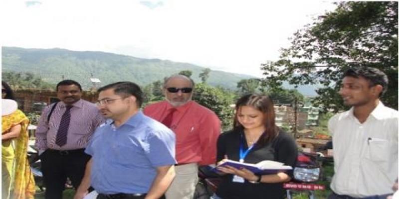 WHO WR Sri Lanka and WHO Nepal's visit to Gokarna PHCC in Kathmandu (a study site of HERD)