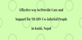 Effective way to Provide Care and Support for TB/HIV Co-infected People in  Kaski, Nepal
